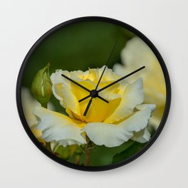 White Licorice Rose Wall Clock