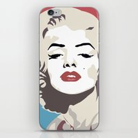 marylin monroe iPhone & iPod Skins featuring Marylin Monroe by Creativehelper