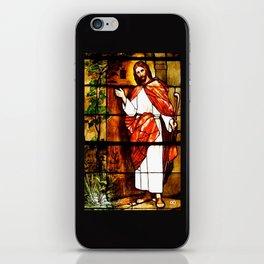 "Jesus knocks at ""The Door"" iPhone Skin"