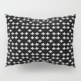 Fleur de lis white black 5 Pillow Sham