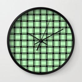 Light Green Weave Wall Clock