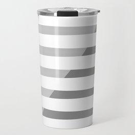Beach Stripes Gray Travel Mug