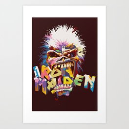 Iron Maiden Canvas Rolls, Metal Band Unframe Canvas, The Trooper Canvas Poster, Home Decor, Wall Hanging,Wall Print, Bruce Dickinson Art Print