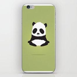 Mindful panda levitating iPhone Skin