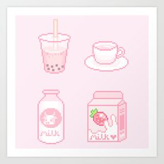 pink drinks Art Print