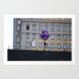 Purple balloon Art Print