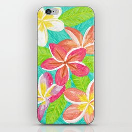 Plumeria love iPhone Skin