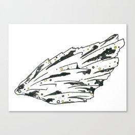 Black Kyanite Wing Print Canvas Print