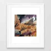 literary Framed Art Prints featuring Literary Flying Fish by Sarah Sutherland