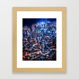 falling into place Framed Art Print