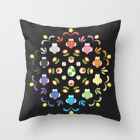 yoshi Throw Pillows featuring Yoshi Prism by Ashley Hay