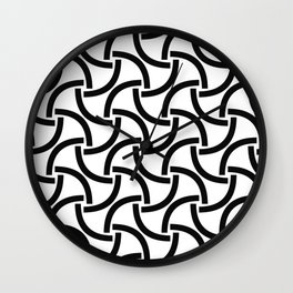 Curves Caught on Camera Wall Clock