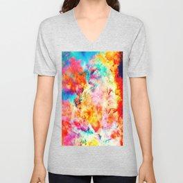 Colorful Abstract Nebula Unisex V-Neck