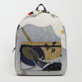 Ohara Koson - Lantern and Cat - Digital Remastered Edition Backpack