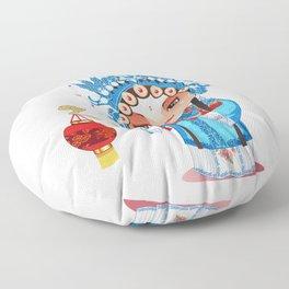 Beijing Opera Character GongNv Floor Pillow