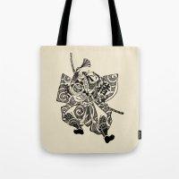 samurai Tote Bags featuring Samurai by Scalifornian