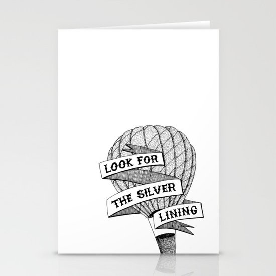 Look for the silver lining Stationery Cards