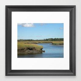 Marsh scene Framed Art Print