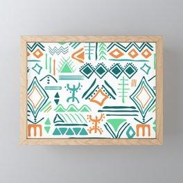 hand drawn primitive pattern Framed Mini Art Print