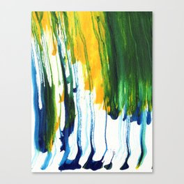 Abstract Paint Drip  Canvas Print