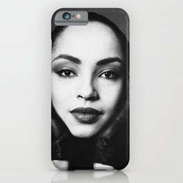"""No ordinary love"" singer digitally enhanced and grained close up photo of . For good music lovers. iPhone Case"