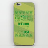 drunk iPhone & iPod Skins featuring DRUNK by Insait Disseny