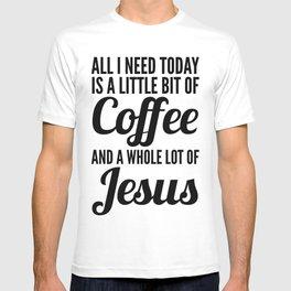 COFFEE AND JESUS T-shirt