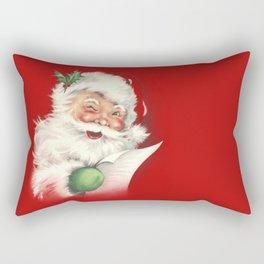 Vintage Santa Rectangular Pillow