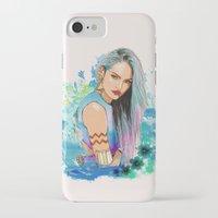 aquarius iPhone & iPod Cases featuring Aquarius by Sara Eshak