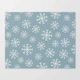 Snow Flakes Winter Canvas Print