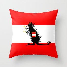 Australia - Kangaroo on Austrian Flag Throw Pillow