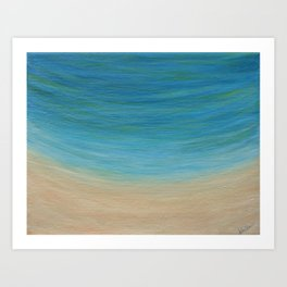 Seas The Day beach painting Art Print