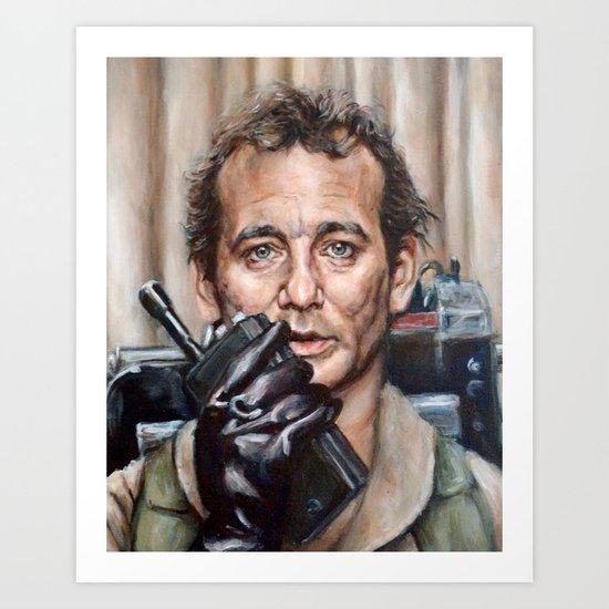 Bill Murray / Ghostbusters / Peter Venkman / Close-Up Art Print