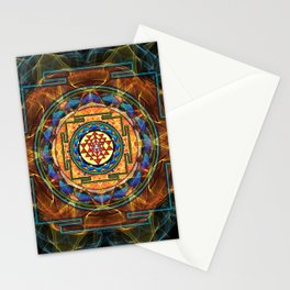 The Sri Yantra - Sacred Geometry Stationery Cards