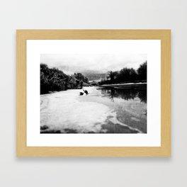 C'était l'hiver  Framed Art Print