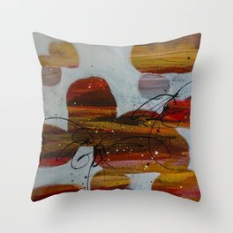 River Rock Red Throw Pillow
