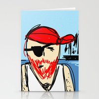 pirate ship Stationery Cards featuring Pirate by Rimadi