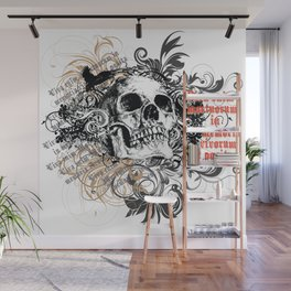 The life of the dead is retained in the memory of the living Wall Mural