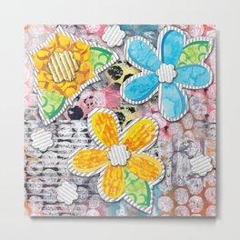 Paper Flower Power Metal Print