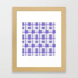 Retro Purple Plaid Pattern Framed Art Print