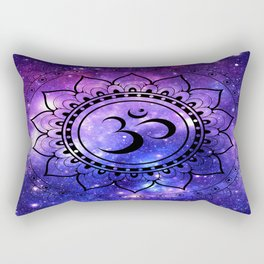Om Mandala: Purple Blue Galaxy Rectangular Pillow