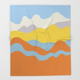 Over The Sunset Mountains Throw Blanket