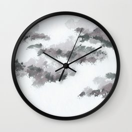 clouds_january Wall Clock