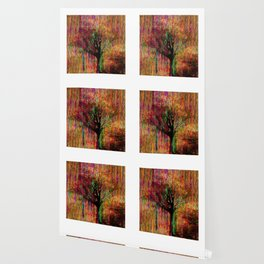 Abstract tree on a colorful background Wallpaper