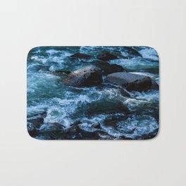 Like Stones Under Rushing Water Bath Mat