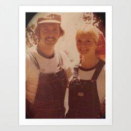 Mom and dad honeymoon Art Print