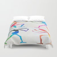 asexual Duvet Covers featuring Human Transitioning by aalexhayes
