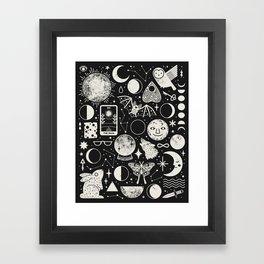 Lunar Pattern: Eclipse Framed Art Print