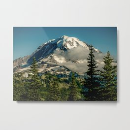 Mountain, Scenic, Mt. Rainier Metal Print