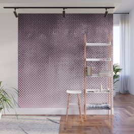 edgy halftone pattern // pink Wall Mural